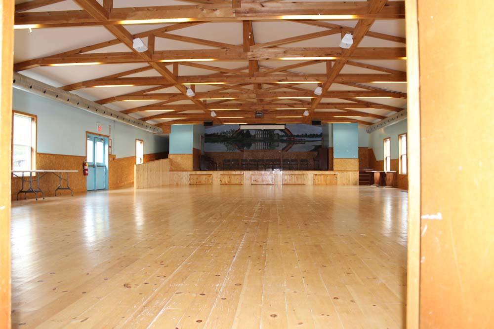 inside the activity hall at camp trillium rainbow lake