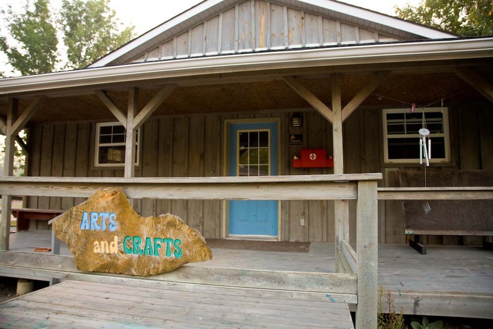 arts and crafts building at camp trillium rainbow lake